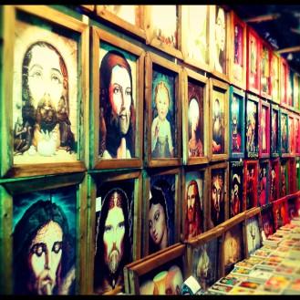 A wonderful display of art at shops along the river walk