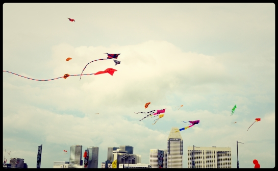 Kites festival at Marina Bay, Singapore