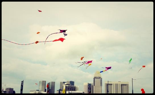 Kites festival at Marina Bay, Singapore