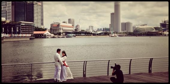 Wedding Photoshoot at Marina Bay