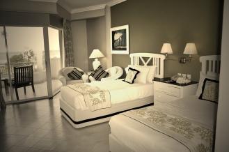 Spacious and comfy rooms at Taj